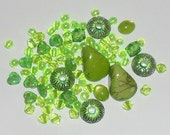 Assorted Lime Green Bead Mix, Destash Supplies by belladonnabeads on Etsy
