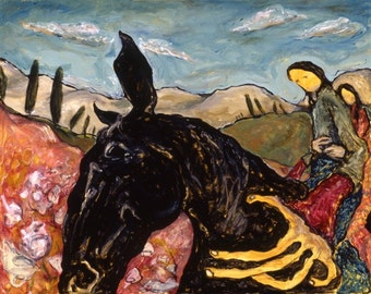 Riding Horse, Staying Sane 11 x 14