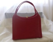 vintage red handbag. Naturalizer