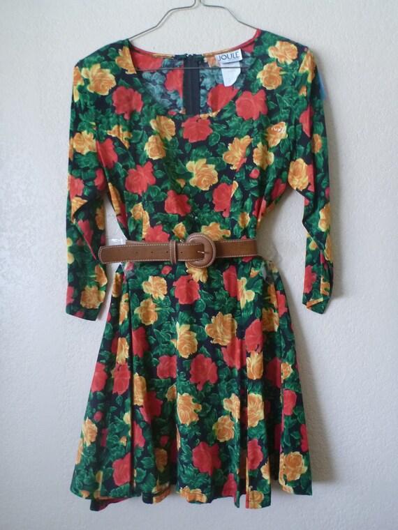vintage 80's Joule floral baby doll dress. MEDIUM