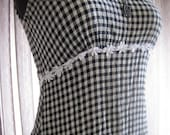 Grunge Daisy and Gingham Babydoll Dress  XS