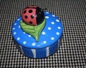 Ceramic Ladybug box