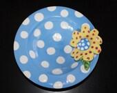 ceramic flower dish