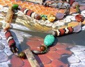 Corn Snake Beaded Snakeskin Necklace