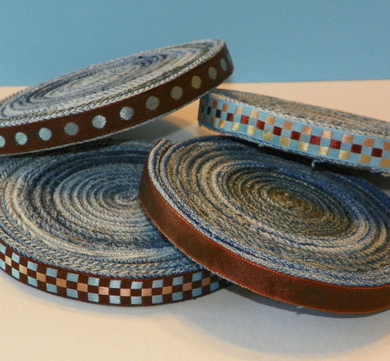 Blue Jean Coaster Set Updated Repurposed Denim