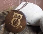 SALE Woot Woot  Owl Pendant  HALF PRICE