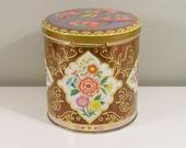 Daher Woodgrain Floral Tin