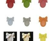 DESTASH SaLE --- Bowtie Resin Setting - 25x18mm center - 50pcs Assorted Colors Wholesale