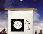 Flag - Prayer Flag - Peace on Earth - World Peace - Earth - Earth Image-Goodwill to All-Heart-Compassion-Garden bell-Baby decor
