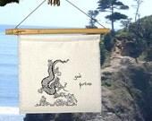 Flag - DANCING DRAGON Silk Prayer Flag - One Prayer- Party Gift- Chinese Dragon-Dragon-Good Luck-Oregon Country Fair-Autumn-Fall-Winter-