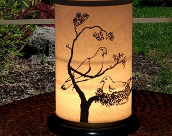 Candle Holder-Wedding-Candle Lantern Dove design-Peace-Springtime-Be Peace-Gandhi-Love-Holiday lighting-doves-Easter lighting-garden light