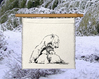 "1 Little Prayer - Polar Bear - ""Love Is All, Baby""- snow-Arctic-winter -Baby gift -endangered- Love- new mother gift-global climate change"