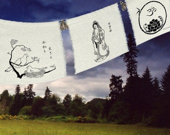 Kuan Yin - Mother of Compassion - Doves - Peace - Gandhi - OM - Lotus - baby gift - expectant mother - Springtime gift-shrine-garden shrine