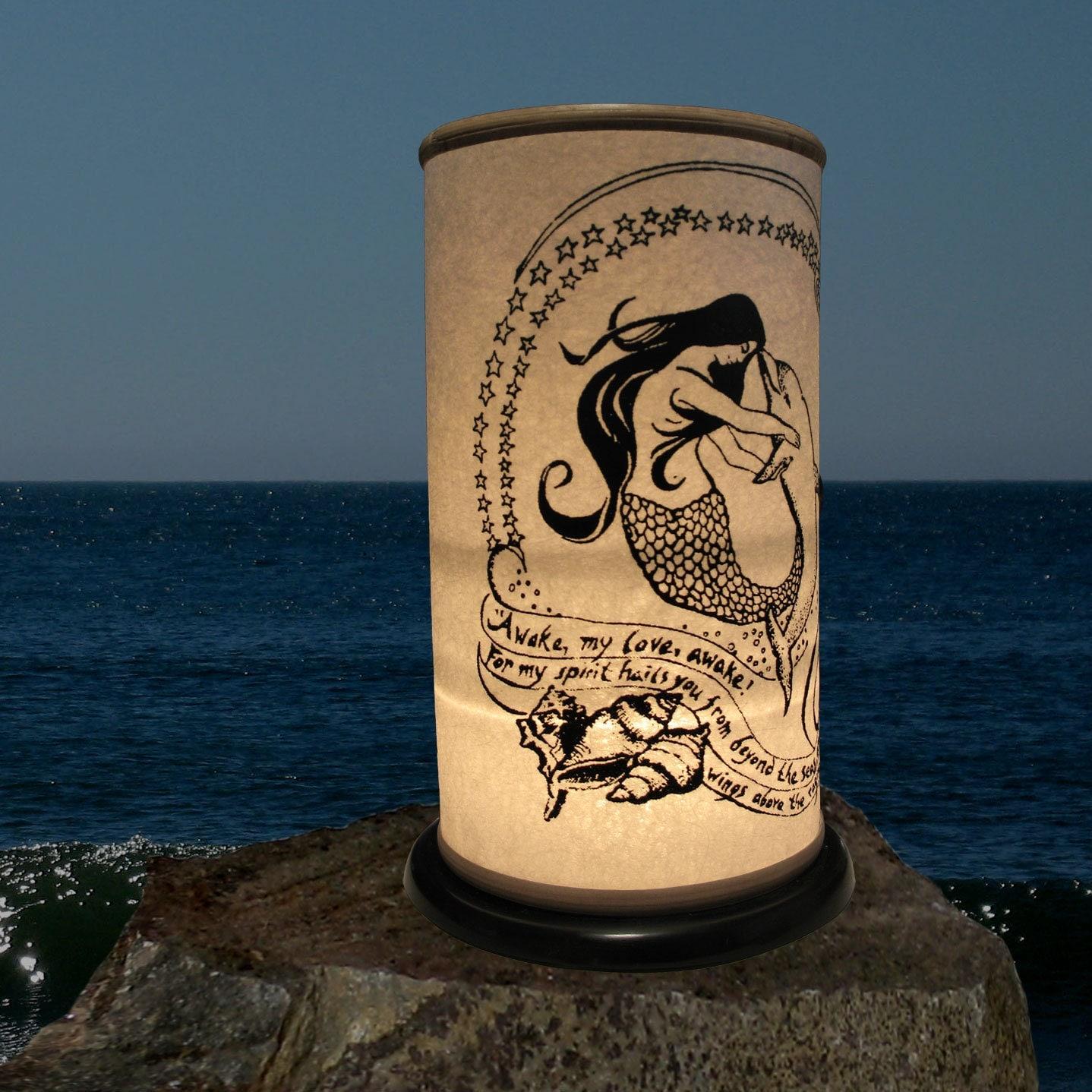 mermaid dolphin shoji candle lanterncandle holder home