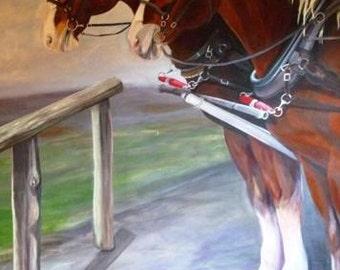 Custom Horse Painting, Large Horse painting, Life Sized Horse Murals, Large Horse Paintings, Horse Artist