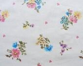 Vintage Sheet Fat Quarter - Pink and Blue Floral