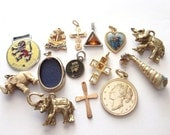 vintage Collection of Interesting charms / Steampunk pendants & collectables