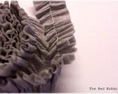 PEWTER GRAY Ruffled Crepe Paper Trim