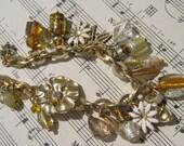 White and Gold Charm Bracelet
