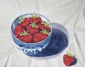 Greeting Card - Bowl of Strawberries