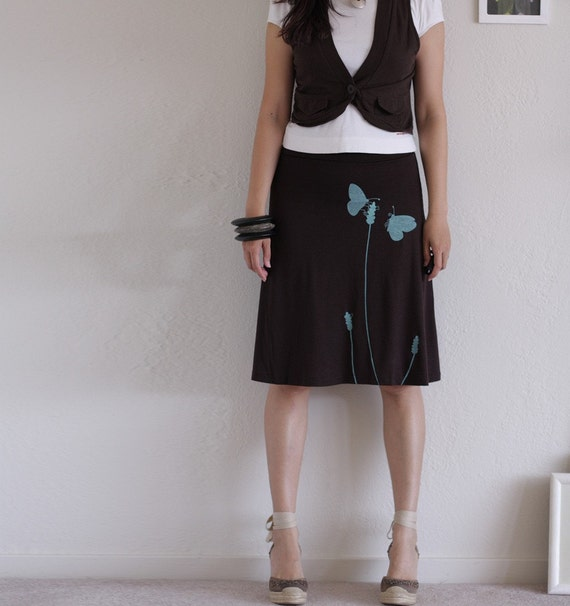 knee length a line skirt jersey maternity skirt by