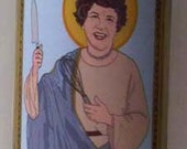 Julia Child, Patron Saint of the Curious Cook Pillar Candle