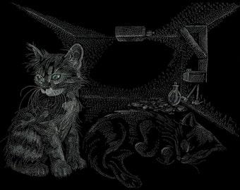 Schrodinger's Cat - 24x30 Limited Edition Canvas
