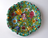 Gubbio Art Pottery by Ceramiche Magnanelli Polychrome Majolica Clay Bowl Made in Italy - Treasury Item