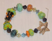 Angie's Cosmic Candy Lampwork and Crystal Bracelet