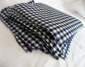 """LAST ONE 30 ct 6"""" X 6"""" vintage navy and white plaid poly fabric squares"""
