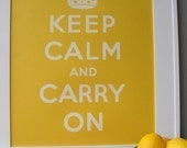 Keep Calm and Carry On poster - Fresh Lemon Yellow - French Paper Co. - 16x20 Keep Calm print