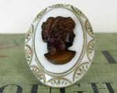 Victorian Lady Cameo Ring adjustable