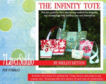 The Infinity Tote - a PDF sewing pattern for handbags