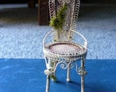 Neglected Garden Chair- Dollhouse Miniature