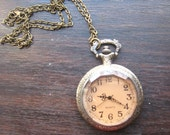 Large Antique Style Pocket watch necklace