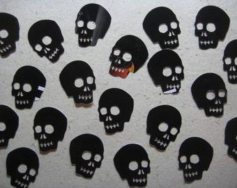 Glossy Black Skull Die Cuts