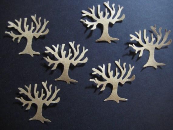 Kraft Brown Tree Die Cuts