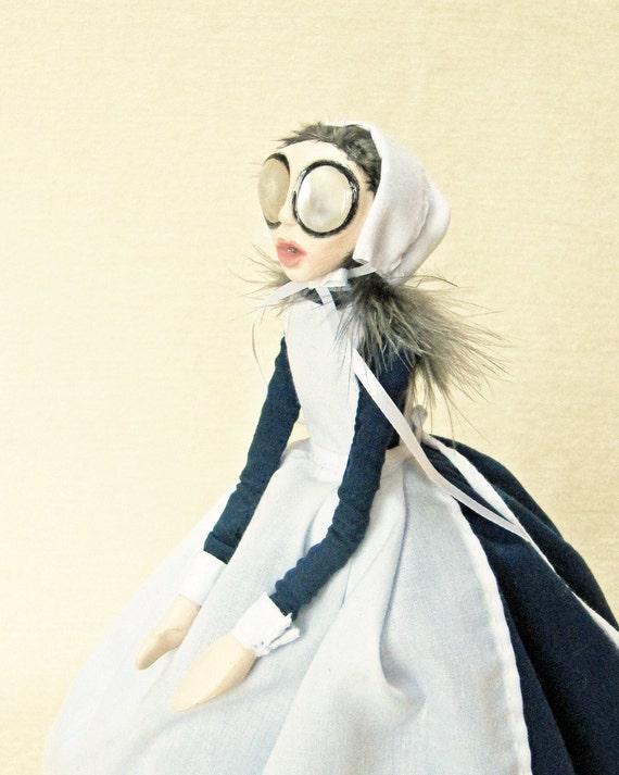 SALE / REDUCED - Nurse Foster - Victorian Nurse Art Doll