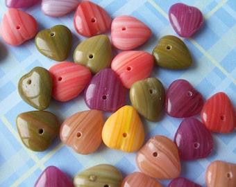 Heart shaped bead assortment