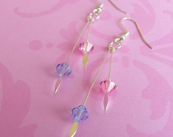 Crystal spear earrings