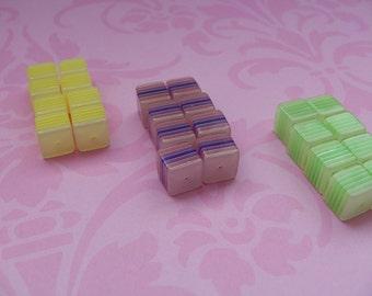 10 mm acrylic cube beads