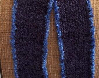 Blue chenille scarf