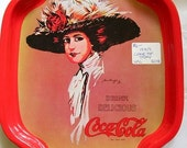 Vintage 1970s Coca Cola Coke Pop Soda Tin Tip Tray HK Hong Kong SALE