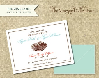 The Vineyard Collection-Wine Label Save the Date