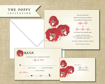 The Poppy Invitation Sample Set