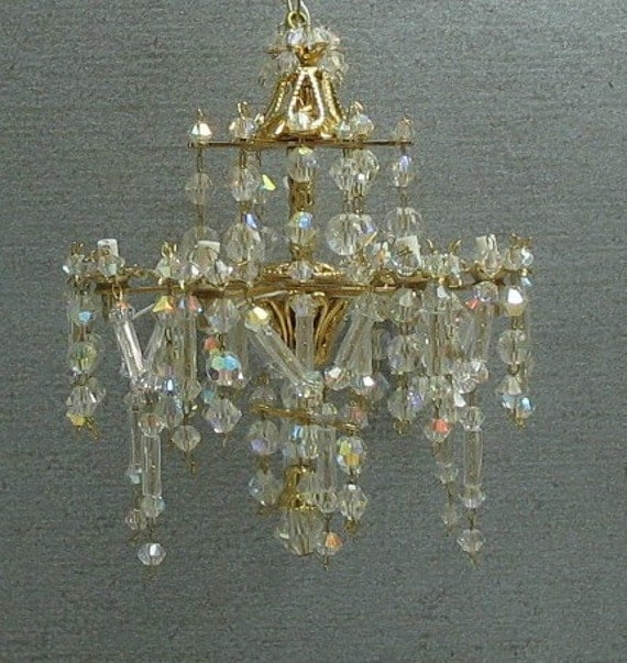 Swarovski Crystal Dollhouse Chandelier: Unavailable Listing On Etsy