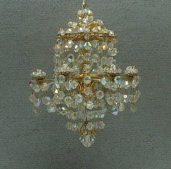 Dollhouse Miniature Crystal Chandelier
