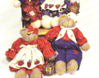 Red, White and Blue 16 inch bears and 21 inch bunnies Sewing Pattern