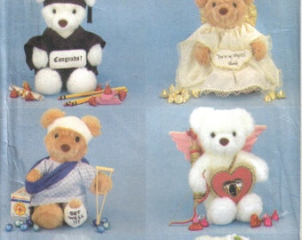 9 inch Greating Bear with six outfits Butterick 5601 Sewing Pattern