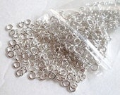 SALE Lot of 650 pcs Plated Silver Jump Rings 3mm